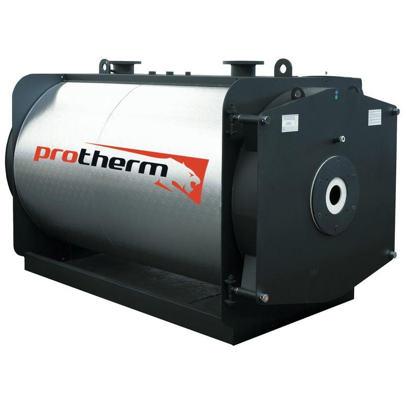 Котел напольный на газовом / дизельном топливе Protherm БИЗОН NO 630 (0010003645)Комбинированный котел отопления Protherm Бизон NO 630 (0010003645)<br><br>Напольный одноконтурный отопительный котел тепловой мощностью 630 кВт, работающий на дизеле, природном или сжиженном газе, со стальным трехходовым теплообменником, закрытой камерой сгорания, вентиляторной горелкой (комплектуется отдельно), для закрытых отопительных систем и горячего водоснабжения (при установке бойлера косвенного нагрева), для использования в жилых и промышленных помещениях площадью до 6300 кв.м.<br><br>НАЗНАЧЕНИЕ:<br><br>Применение в отопительных системах с закрытой циркуляцией теплоносителя;<br><br>Использования для горячего водоснабжения (при подключении бойлера);<br><br>Организация котельных станций центрального отопления большой мощности;<br><br>ПРЕИМУЩЕСТВА:<br><br>Универсальность: может работать на природном или сжиженном газе, дизеле или мазуте;<br><br>Многофункциональность: применяется для систем отопления и горячего водоснабжения;<br><br>Может быть частью системы отопления, состоящей из нескольких котлов: каскадное подключение котлов общей тепловой мощностью свыше 10 МВт с помощью интеллектуального регулятора (комплектуется дополнительно);<br><br>Высокий КПД 92% и низкое количество вредных веществ в продуктах сгорания достигается благодаря конструкции теплообменника, вентиляторной горелке (не входит в комплект) и закрытой камере внутреннего сгорания с тремя дымоходами;<br><br>Корпус котла покрыт изоляционным материалом и стальным кожухом, которые снижают теплопотери и увеличивают КПД;<br><br>Долговечный прямоугольный стальной корпус с двухсторонним сварным швом;<br><br>Экономичный расход топлива и оптимальное регулирование мощности обеспечивается благодаря двум термостатам: один ограничивает максимальную температуру отапливающей воды в системе, другой определяет диапазон, когда котел переключается на более низкую мощность;<br><br>Безопасность эксплуатации: аварийный термостат;<br><br>Фун