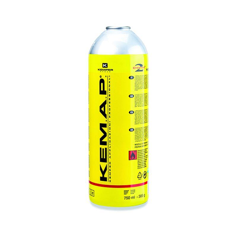 Баллон с газом KEMPER 581 KEMАР (резьб. бал, 410мл/250гр,Пропан98/Чемт2%, темп2400/3300С)<br>Бренд: Kemper; Модель: 581; Код производителя: 581; Назначение: Для газовых горелок; Соединение: Резьбовое; Тип баллона: Одноразовый; Состав газа: Смесь пропан 98% и чемтан (Chemtane 2) 2%; Резьба: 7/16 ; Объем баллона: 950 мл; Температура пламени: 2400 °С; Температура пламени с использованием кислорода: 3300 °С; Родина бренда: Италия; Страна производитель: Италия; Вес: 0.25 кг;