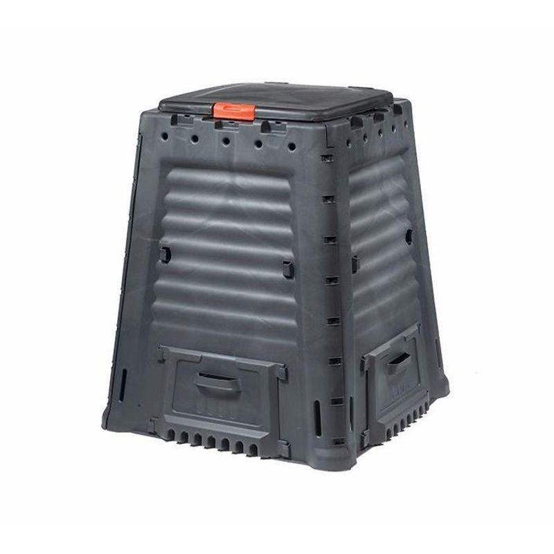Компостер Mega composter 650L (без основания)<br>Особенности конструкции: Дверцы-ручки для сбора листьев, система циркуляции воздуха; Материал: Пластик; Объем: 650 л; Производитель: Гардек;