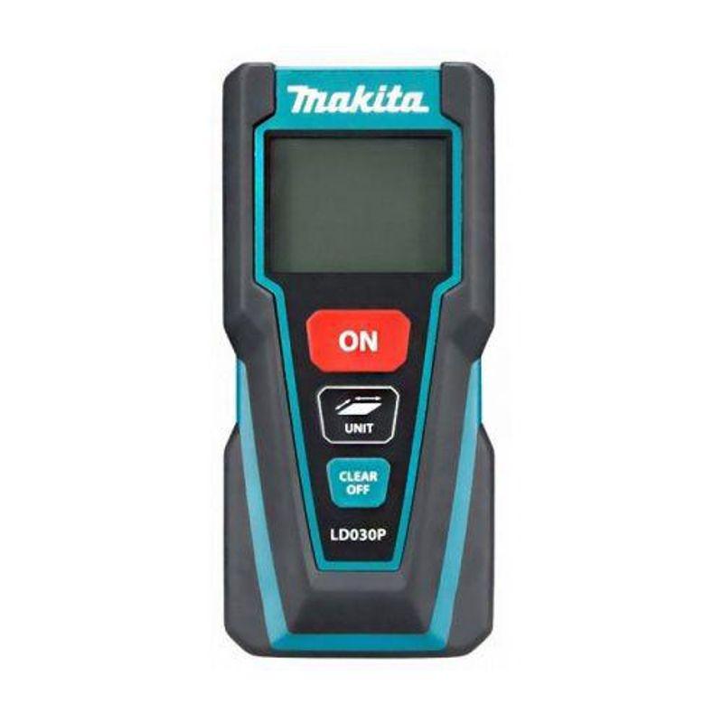 Дальномер лазерный MAKITA LD030PЛазерный&amp;nbsp;дальномер&amp;nbsp;Makita&amp;nbsp;LD030P<br><br>Электронно-оптический&amp;nbsp;прибор&amp;nbsp;для&amp;nbsp;удобного&amp;nbsp;и&amp;nbsp;быстрого&amp;nbsp;измерения&amp;nbsp;расстояний&amp;nbsp;при&amp;nbsp;помощи&amp;nbsp;лазерного&amp;nbsp;излучения.<br><br>НАЗНАЧЕНИЕ:<br><br>Проведение&amp;nbsp;линейных&amp;nbsp;замеров&amp;nbsp;(расстояний,&amp;nbsp;длин,&amp;nbsp;высот&amp;nbsp;и&amp;nbsp;удалений)&amp;nbsp;внутри&amp;nbsp;и&amp;nbsp;вне&amp;nbsp;помещений&amp;nbsp;(диапазон&amp;nbsp;от&amp;nbsp;20&amp;nbsp;см&amp;nbsp;до&amp;nbsp;30&amp;nbsp;м);<br>Определение&amp;nbsp;площади.<br><br>ПРЕИМУЩЕСТВА:<br><br>Лёгкий&amp;nbsp;и&amp;nbsp;компактный&amp;nbsp;&amp;ndash;&amp;nbsp;удобный&amp;nbsp;&amp;laquo;карманный&amp;raquo;&amp;nbsp;размер&amp;nbsp;и&amp;nbsp;вес;<br>Интуитивно&amp;nbsp;понятное&amp;nbsp;и&amp;nbsp;простое&amp;nbsp;управление&amp;nbsp;&amp;ndash;&amp;nbsp;три&amp;nbsp;крупные&amp;nbsp;кнопки;<br>Качественный&amp;nbsp;пластик&amp;nbsp;корпуса&amp;nbsp;с&amp;nbsp;вставками,&amp;nbsp;исключающими&amp;nbsp;выскальзывание;<br>Конструктивное&amp;nbsp;исполнение&amp;nbsp;прибора&amp;nbsp;(класс&amp;nbsp;защиты&amp;nbsp;IP54)&amp;nbsp;позволяет&amp;nbsp;применять&amp;nbsp;в&amp;nbsp;сложных&amp;nbsp;условиях&amp;nbsp;запылённости&amp;nbsp;и&amp;nbsp;влажности;<br>Три&amp;nbsp;режима&amp;nbsp;измерений&amp;nbsp;&amp;ndash;&amp;nbsp;единичный&amp;nbsp;замер,&amp;nbsp;вычисление&amp;nbsp;площади,&amp;nbsp;функция&amp;nbsp;слежения;<br>Большой&amp;nbsp;информационный&amp;nbsp;дисплей&amp;nbsp;с&amp;nbsp;подсветкой,&amp;nbsp;облегчает&amp;nbsp;замеры&amp;nbsp;при&amp;nbsp;плохом&amp;nbsp;освещении;<br>Быстрая&amp;nbsp;и&amp;nbsp;точная&amp;nbsp;работа&amp;nbsp;&amp;ndash;&amp;nbsp;погрешность&amp;nbsp;&amp;plusmn;2мм&amp;nbsp;и&amp;nbsp;время&amp;nbsp;&amp;nbsp;2сек&amp;nbsp;(при&amp;nbsp;стандартных&amp;nbsp;условиях),&amp;nbsp;диаметр&amp;nbsp;лазерной&amp;nbsp;точки&amp;nbsp;6&amp;nbsp;мм&amp;nbsp;при&amp;n