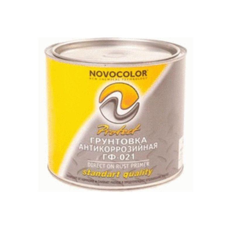 Грунт ГФ-021 светло-серая (1,9 кг), Новоколор<br>Способ нанесения: Макловица; Вес: 1,9  кг;