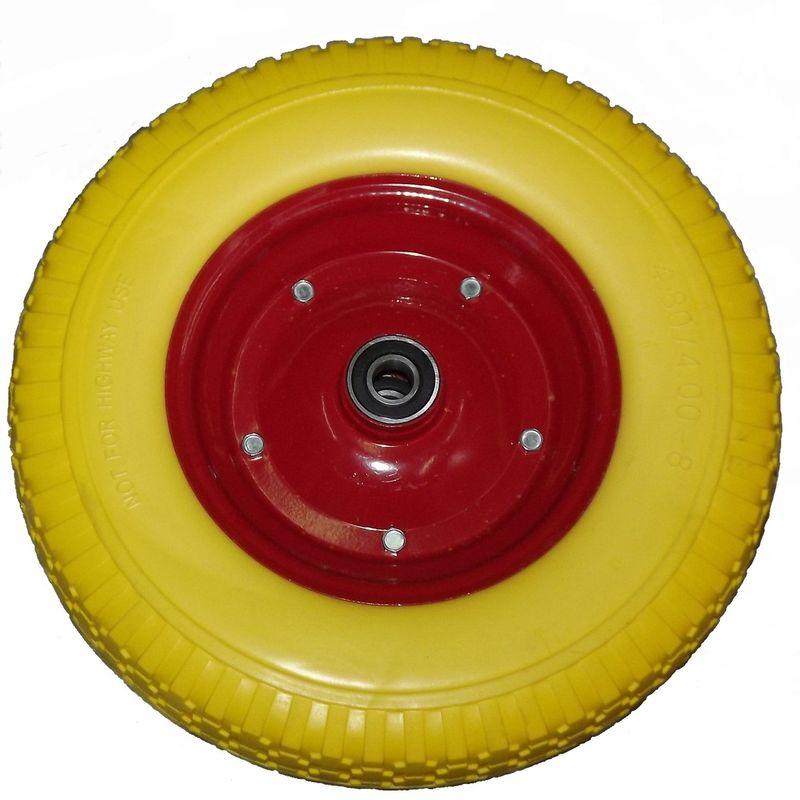 Колесо полиуретан 380 мм желтое, 2,7кг