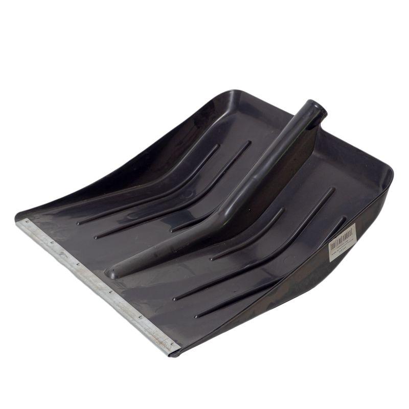 Лопата морозостойкая снеговая пластик с оцинк планка б/черенка43х49см