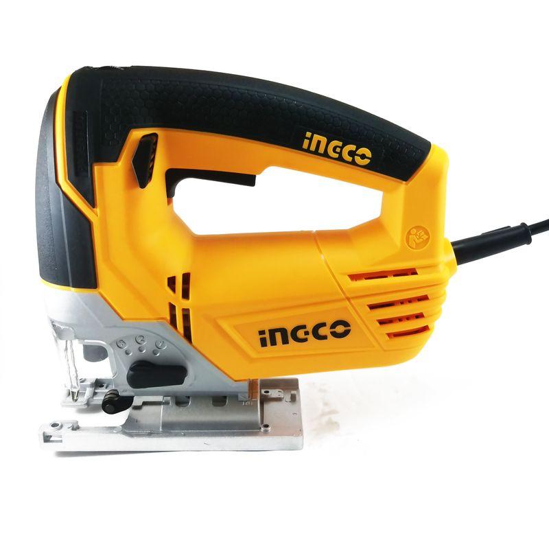 Лобзик INGCO INDUSTRIAL JS7508<br>Бренд: Ingco; Модель: JS80028; Код производителя: JS80028; Макс. частота хода: 3000 ход/мин; Глубина пропила дерева: 110 мм; Глубина пропила стали: 8 мм; Мощность: 750 Вт; Напряжение: 220 В; Дополнительные функции: Обдув; Дополнительные функции: Регулировка частоты хода; Дополнительные функции: Маятниковый ход; Дополнительные функции: Антивибрационная система; Дополнительные функции: Регулеровка угла подошвы; Дополнительные функции: Плавный пуск; Дополнительные функции: Прорезиненная рукоятка; Комплектация: Ключ; Комплектация: Электролобзик; Комплектация: Комплект пилок; Комплектация: Инструкция; Вид двигателя: Закрытый; Вид рукоятки: Скобовидная; Область применения: Профессиональный; Серия: Industrial; Страна производитель: Китай; Родина бренда: Китай; Гарантия: 12 мес;