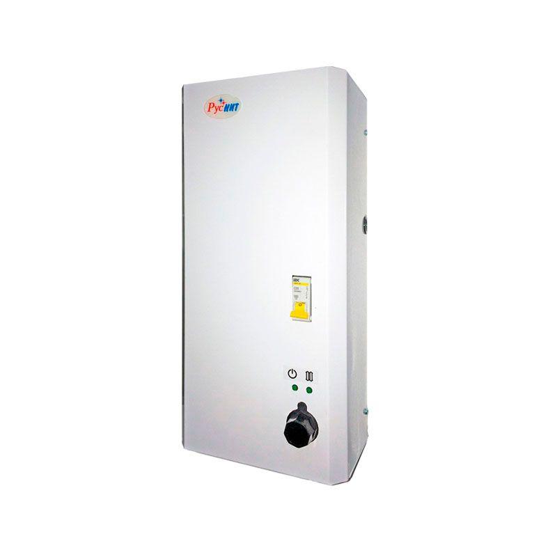 Котел электрический РусНИТ-203 М (3 кВт) 220 В 10203Котел электрический РусНИТ-203 М (3 кВт) 220 В 10203<br><br>Котёл электрический, автоматизированный, мощностью 3 кВт.<br><br>НАЗНАЧЕНИЕ:<br><br>Котёл используется для отопления загородных домов и коттеджей, площадью до 30 кв.м.<br><br>ПРЕИМУЩЕСТВА:<br><br>Котёл можно использовать как источник питания в резерве;<br>Котёл является целиком автоматизированным. Это позволяет поддерживать температуру в помещении в нужных рамках &amp;ndash; от 5 до 30C;<br>ТЭНы котла изготовлены из нержавеющей стали, как и корпус;<br>В качестве теплоносителя вы можете использовать не только воду, но и антифриз;<br>Имеет на оснащении датчиками ограничения температуры и количества теплоносителя. Это позволяет избежать работу котла при недостаточной заполнении отопительный системы теплоносителем;<br>Термоограничитель позволяет ограничить нагрев теплоноситель выше температуры в 90C;<br>Имеется ступенчатая регулировка мощности;<br>Вместе с котлом можно использовать циркуляционный насос;<br>Котёл оснащён защитой от влаги;<br><br>РЕКОМЕНДАЦИИ:<br><br>Рекомендуется использовать котёл с насосами Wilo и Grundfos (Alpha 25-40, 32-40 и т.д.).<br><br>Котёл рассчитан на подключение в сеть с напряжением 220В и частотой однофазного тока в 50 Гц.<br><br>МЕРЫ ПРЕДОСТОРОЖНОСТИ:<br><br>Перед включением котла в сеть обязательно убедитесь визуально в целостности изоляции.<br><br>Меняйте предохранитель и ремонтируйте котёл только в отключённом от сети состоянии.<br>Страна производитель: Россия; Бренд: Руснит; Родина бренда: Россия; Модель: 203 м; Модельный ряд: М; Тип установки: Настенный; Мощность: 3 кВт; Напряжение сети: 220 В; Класс защиты: IPX 1; Диаметр контура отопления: 1 ; Высота: 485 мм; Ширина: 194 мм; Глубина: 133 мм; Вес: 9 кг; Мощность котла: До 16 кВт;