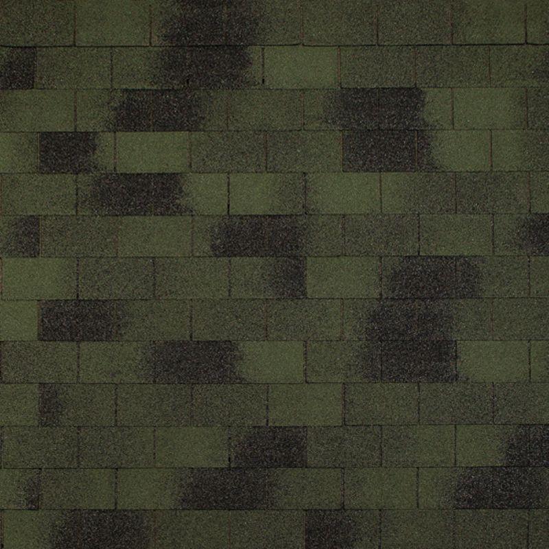 Черепица гибкая Tegola Top Shingle Винтаж ЗеленыйЧерепица гибкая Tegola Top Shingle Винтаж (зелёный)<br><br>Однослойное кровельное покрытие для строительных и ремонтных работ.<br><br>НАЗНАЧЕНИЕ:<br><br>Покрытие сверхпрочных (железобетонная плита) и прочных (фанера повышенной влагостойкости, шпунтованная, обрезная доска, ОСП) оснований.<br><br>ПРЕИМУЩЕСТВА:<br><br>Долговечность (базальтовая посыпка; прямоугольник-кирпич (нарезка); стеклохолст (основа); устойчива к воздействию влаги, ультрафиолетовому излучению, механическим повреждениям; термоадгезивные точки на лицевой стороне листа);<br><br>Универсальность (подходит для крыш жилых домов и общественных зданий);<br><br>Удобство в использовании (лист с пазами, рисками для выравнивания, смещения).<br><br>РЕКОМЕНДАЦИИ:<br><br>Общие рекомендации:<br><br>Не рекомендуется работать в присутствии посторонних лиц, детей и животных;<br><br>При работе пользоваться средствами индивидуальной защиты (очки, перчатки, каска, мягкая обувь на плоской подошве), спецовкой;<br><br>Принять устойчивое положение для проведения работ. В рабочей зоне не должно быть посторонних предметов, которые могут привести к потере равновесия;<br><br>Использовать для резки черепицы нож с крючкообразным лезвием;<br><br>При выполнении работ (подрезка листов) рекомендуется подложить фанеру.<br><br>Рекомендации по хранению:<br><br>Хранить в сухом помещении, без доступа для детей, животных, посторонних лиц.<br><br>Рекомендации по применению:<br><br>Основание для монтажа должно быть сухим чистым ровным;<br><br>Провести разметку крыши с применением мелованной шнурки (&amp;laquo;отбивки&amp;raquo;);<br><br>Положить рулонные прокладочные материалы;<br><br>Положить лист обрезанный по линии конечных точек вырезов (начальный ряд) по линии карниза, закрепить битумной мастикой (низ), кровельными гвоздями &amp;ndash; верх. Количество рядов укладки &amp;ndash; 3;<br><br>Обработать мастикой места соединения с металлическими фартуками и пр.;<br><br>Подогреть (при температу
