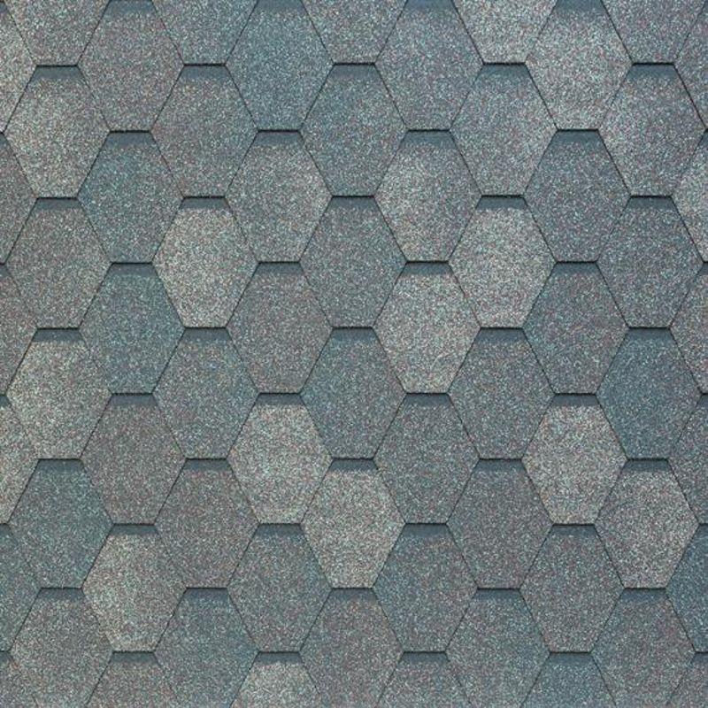 Черепица гибкая Tegola Nobil Tile Вест Темно-серыйЧерепица гибкая Tegola Nobil Tile Вест Темно-серый<br><br>Гибкая полимерная черепица темно-серого цвета шестиугольной формы (соты) для создания качественной и прочной кровли.<br><br>НАЗНАЧЕНИЕ:<br><br>Используется для кровельных работ на скатной крыше с углом наклона от 60 до 900.<br><br>ПРЕИМУЩЕСТВА:<br><br>Полезная площадь одной упаковки &amp;ndash; 3,45 м2;<br><br>Долговечность (в состав входит особо прочное стекловолокно; устойчивость черепицы к солнечным лучам; сохранение цвета на протяжении всего срока службы; водонепроницаемость &amp;ndash; за счет базальтового слоя, не поддается старению и гниению; стойкость к образованию вздутий; сохранение функциональных и технических характеристик на протяжении 30 лет);<br><br>Безопасность (состоит из природных экологически чистых материалов);<br><br>Удобство в использовании (легкий монтаж &amp;ndash; клеящаяся битумная полоса, минимизация отходов при монтаже &amp;ndash; принимает любую форму; диапазон температуры эксплуатации от -700С до +1400С; шестиугольная форма черепицы &amp;ndash; дает возможность применения для крыш разной геометрии).<br><br>РЕКОМЕНДАЦИИ:<br><br>Монтажные работы рекомендуется проводить в условиях теплой и сухой погоды, чтобы получить надлежащий уровень адгезии черепицы и подложки;<br><br>Монтаж мягкой кровли осуществляется при помощи специального клея и гвоздей для кровли;<br><br>Перед началом работ необходимо распланировать места размещения шахты вентиляций, чтобы оградить черепицу от чрезмерной влажности;<br><br>Перед укладкой гибкой черепицы, необходимо произвести укладку подложки, для повышения эксплуатационных характеристик теплоизоляционного и кровельного материала;<br><br>Непосредственно при монтаже кровли, необходимо снять защитную пленку, и поместить плитку, согласно рисунку или проекту;<br><br>Резку черепицы осуществляйте ножом с крючкообразным лезвием;<br><br>При проведении работ при температуре ниже +100С, необходимо прогревать битумную 