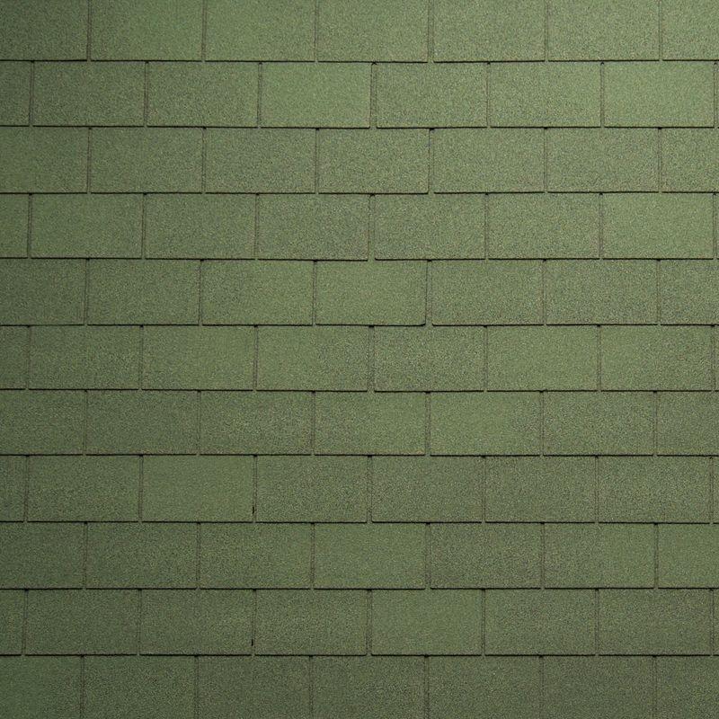 Черепица гибкая Tegola Nordland Классик Зеленый с отливомЧерепица гибкая Tegola Nordland Классик Зеленый с отливом<br><br>Гибкая полимерная черепица зеленого цвета прямоугольной формы (кирпичики) для создания качественной и прочной кровли.<br><br>НАЗНАЧЕНИЕ:<br><br>Используется для кровельных работ на скатной крыше с углом наклона от 60 до 900.<br><br>ПРЕИМУЩЕСТВА:<br><br>Полезная площадь одной упаковки &amp;ndash; 3,5 м2;<br><br>Долговечность (в состав входит особо прочное стекловолокно; устойчивость черепицы к солнечным лучам; сохранение цвета на протяжении всего срока службы; водонепроницаемость &amp;ndash; за счет базальтового слоя, не поддается старению и гниению; стойкость к образованию вздутий; сохранение функциональных и технических характеристик на протяжении 35 лет);<br><br>Безопасность (состоит из природных экологически чистых материалов);<br><br>Удобство в использовании (легкий монтаж &amp;ndash; клеящаяся битумная полоса, минимизация отходов при монтаже &amp;ndash; принимает любую форму; диапазон температуры эксплуатации от -700С до +1400С; прямоугольная форма черепицы &amp;ndash; дает возможность применения для крыш со сложной геометрией; пленка для предотвращения склеивания гонтов между собой при транспортировке).<br><br>РЕКОМЕНДАЦИИ:<br><br>Монтажные работы рекомендуется проводить в условиях теплой и сухой погоды, чтобы получить надлежащий уровень адгезии черепицы и подложки;<br><br>Монтаж мягкой кровли осуществляется при помощи специального клея и гвоздей для кровли;<br><br>Перед началом работ необходимо распланировать места размещения шахты вентиляций, чтобы оградить черепицу от чрезмерной влажности;<br><br>Перед укладкой гибкой черепицы, необходимо произвести укладку подложки, для повышения эксплуатационных характеристик теплоизоляционного и кровельного материала;<br><br>Непосредственно при монтаже кровли, необходимо снять защитную пленку, и поместить плитку, согласно рисунку или проекту;<br><br>Резку черепицы осуществляйте ножом с крючкообразным 