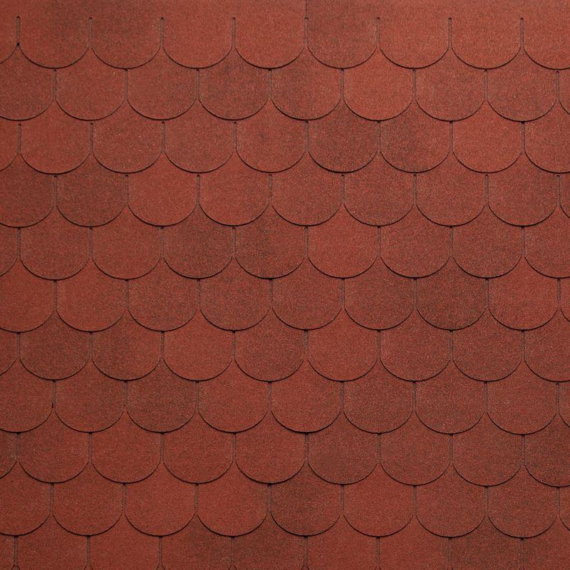 Черепица гибкая Tegola Nordland Антик Красный с отливомЧерепица гибкая Tegola Nordland Антик Красный с отливом<br><br>Гибкая полимерная черепица красного цвета полукруглой лепестковой формы для создания качественной и прочной кровли.<br><br>НАЗНАЧЕНИЕ:<br><br>Используется для кровельных работ на скатной крыше с углом наклона от 60 до 900.<br><br>ПРЕИМУЩЕСТВА:<br><br>Полезная площадь одной упаковки &amp;ndash; 3,5 м2;<br><br>Долговечность (в состав входит особо прочное стекловолокно; устойчивость черепицы к солнечным лучам; сохранение цвета на протяжении всего срока службы; водонепроницаемость &amp;ndash; за счет базальтового слоя, не поддается старению и гниению; стойкость к образованию вздутий; сохранение функциональных и технических характеристик на протяжении 35 лет);<br><br>Безопасность (состоит из природных экологически чистых материалов);<br><br>Удобство в использовании (легкий монтаж &amp;ndash; клеящаяся битумная полоса, минимизация отходов при монтаже &amp;ndash; принимает любую форму; диапазон температуры эксплуатации от -700С до +1400С; пятилепестковая полукруглая форма черепицы &amp;ndash; дает возможность применения для крыш разной геометрии; пленка для предотвращения склеивания гонтов между собой при транспортировке).<br><br>РЕКОМЕНДАЦИИ:<br><br>Монтажные работы рекомендуется проводить в условиях теплой и сухой погоды, чтобы получить надлежащий уровень адгезии черепицы и подложки;<br><br>Монтаж мягкой кровли осуществляется при помощи специального клея и гвоздей для кровли;<br><br>Перед началом работ необходимо распланировать места размещения шахты вентиляций, чтобы оградить черепицу от чрезмерной влажности;<br><br>Перед укладкой гибкой черепицы, необходимо произвести укладку подложки, для повышения эксплуатационных характеристик теплоизоляционного и кровельного материала;<br><br>Непосредственно при монтаже кровли, необходимо снять защитную пленку, и поместить плитку, согласно рисунку или проекту;<br><br>Резку черепицы осуществляйте ножом с крючкообразн