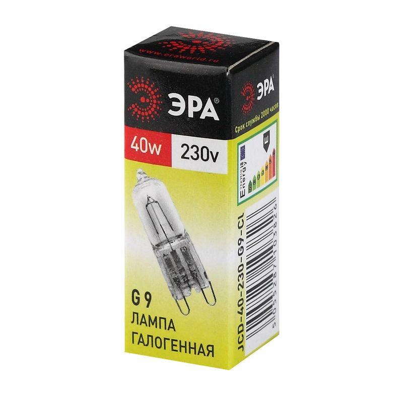 Галогенные лампы ЭРА G9-JCD-40-230V-Cl<br>Страна производитель: Россия; Бренд: Эра; Назначение: Для точечных светильников; Назначение: Бытовая; Назначение: Для светильников; Типоразмер цоколя: G9; Длина: 44 мм; Диаметр: 12 мм; Форма лампы: Капсула; Цвет лампы: Бесцветная; Цвет свечения: Теплый; Прозрачность лампы: Прозрачная; Номинальное напряжение: 230 В; Потребляемая мощность: 40 Вт; Цветовая температура: 3000 К; Светорегулирование: Диммируемая; Срок службы: 2000 ч; Температура эксплуатации: От -40°С до +40°С;
