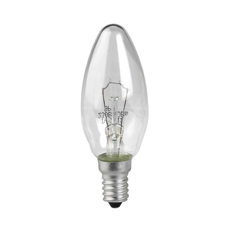 Лампы накаливания ЭРА ДС40-230-E14-CL<br>Страна производитель: Россия; Бренд: Эра; Назначение: Бытовая; Типоразмер цоколя: Е14; Форма лампы: Свеча; Цвет лампы: Бесцветная; Цвет свечения: Теплый; Прозрачность лампы: Прозрачная; Номинальное напряжение: 230 В; Потребляемая мощность: 40 Вт; Световой поток: 250 Лм; Цветовая температура: 2700 К; Светорегулирование: Диммируемая; Срок службы: 1000 ч; Температура эксплуатации: От -60°С до +50°С;