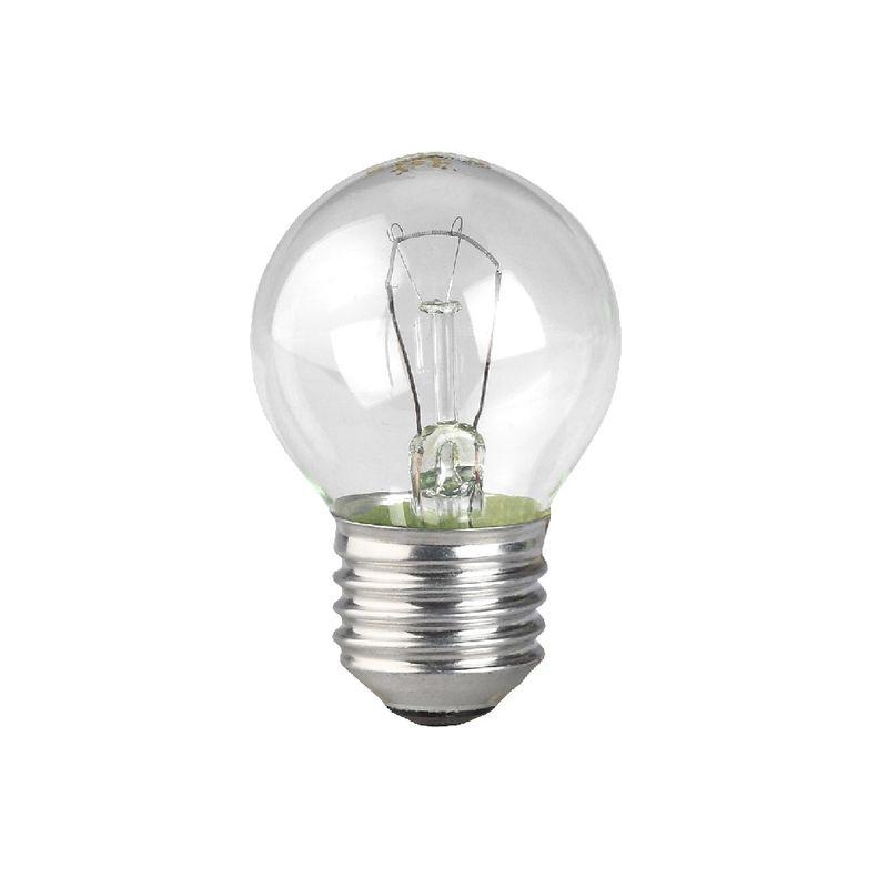 Лампы накаливания ЭРА ДШ40-230-E27-CL<br>Страна производитель: Россия; Бренд: Эра; Назначение: Бытовая; Типоразмер цоколя: Е27; Форма лампы: Шар; Цвет лампы: Бесцветная; Цвет свечения: Теплый; Прозрачность лампы: Прозрачная; Номинальное напряжение: 230 В; Потребляемая мощность: 40 Вт; Световой поток: 250 Лм; Цветовая температура: 2700 К; Светорегулирование: Диммируемая; Срок службы: 1000 ч; Температура эксплуатации: От -60°С до +50°С;