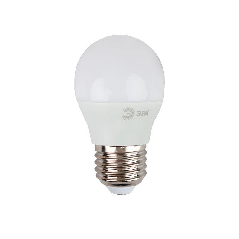 Светодиодные лампы ЭРА LED smd P45-9w-840-E27 серии СТАНДАРТ<br>Гарантия: 2 года; Страна производитель: Россия; Бренд: Эра; Назначение: Для светильников; Назначение: Бытовая; Типоразмер цоколя: Е27; Цвет лампы: Белый; Цвет свечения: Холодный; Номинальное напряжение: 170-265 В; Потребляемая мощность: 9 Вт; Цветовая температура: 4000 К; Светорегулирование: Недиммируемая; Срок службы: 30000 ч; Температура эксплуатации: От -25°С до +50°С;