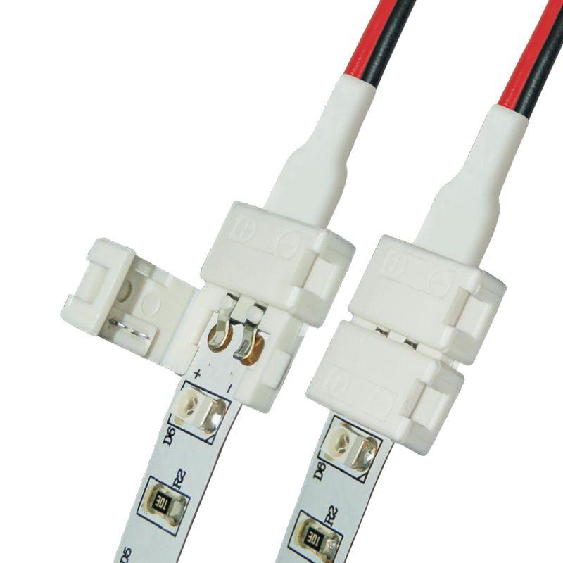 Коннектор (провод) для соединения светодиодных лент Uniel 3528 с блоком питания, 2 контакта<br>Бренд: Uniel;
