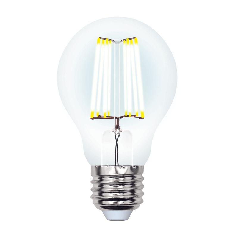 Лампа светодиодная Uniel LED-A60-10W/NW/E27/CL PLS02WH Форма A, прозрачная. Серия Sky. Белый свет(4000K)<br>Бренд: Uniel;