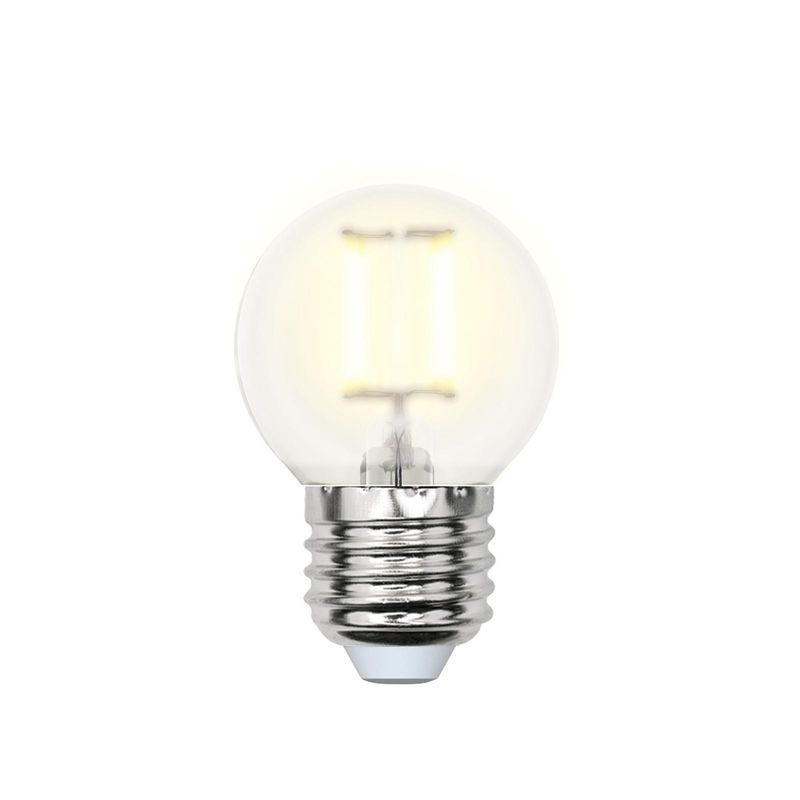 Лампа светодиодная Uniel LED-G45-6W/WW/E27/FR PLS02WH Форма шар, матовая. Серия Sky. Теплый свет<br>Бренд: Uniel;