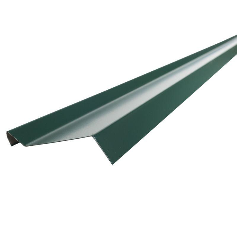 Планка примыкания S6 Pe RAL 6005 L-2000ммПланка примыкания&amp;nbsp;Шинглас, зеленая, 10х45х15х10 мм<br><br>Планка примыкания при закрытии линии границ кровельного материала и стен.<br><br>Планка зеленого цвета, применяемая в качестве&amp;nbsp;доборного&amp;nbsp;элемента.<br><br>НАЗНАЧЕНИЕ:<br><br>Планка примыкания используется для придания кровли целостности, прикрытия кровельных стыков:<br>Для декорирования стыков кровли со стенами зданий;<br>Для обрамления кирпичных фартуков вокруг труб и дымоходов.<br><br>ПРЕИМУЩЕСТВА:<br><br>Универсальный элемент примыкания для герметизации и стыковок, обрамления и декорирования кровельных элементов;<br>Выполняет декоративные функции, придавая композиционно законченный вид кровельному покрытию;<br>Эффективная (предотвращает попадание дождевых вод, ветра и пыли под кровельное пространство);<br>Эстетичная (цветовой диапазон позволяет подобрать планку под общую цветовую гамму кровельного покрытия);<br>Безопасные материалы, из которых выполнена планка, позволяют использовать ее в строительстве зданий и сооружений любого назначения;<br>Полиэфир (полиэстер) покрывающий элемент обладает хорошей стойкостью цвета и гибкостью, это препятствует растрескиванию.<br><br>РЕКОМЕНДАЦИИ:<br><br>Закрепляйте планки в последнюю очередь, когда кровельный материал уже зафиксирован;<br>Планку крепите механическим способом, заводя удлиненную часть планки в подготовленную&amp;nbsp;штробу;<br>После заведения планки в&amp;nbsp;штробу&amp;nbsp;следует герметизировать силиконовым,&amp;nbsp;тиоколовым&amp;nbsp;или полиуретановым герметиком;<br>Фиксируйте планки примыкания внахлест кровельными гвоздями.<br>RAL: 6005; Назначение: Гибкая черепица; Бренд: Shinglas; Размер: 10х45х15х10  мм.; Длина: 2000  мм.; Покрытие: ПЭ (полиэстер); Цвет: Зеленый; Тип: Верхняя;