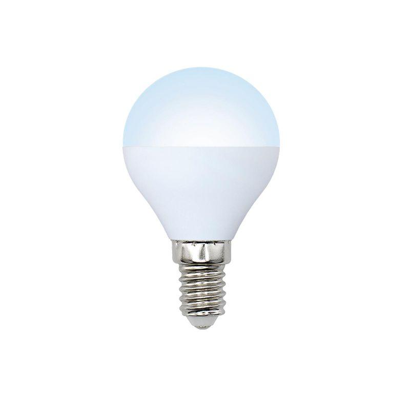 Лампа светодиодная Volpe LED-G45-6W/NW/E14/FR/O Форма шар, матовая Серия Optima белый.<br>Бренд: Uniel;
