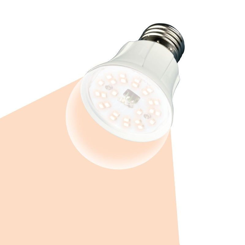 Лампа светодиодная для растений Uniel LED-A60-10W/SPFR/E27/CL PLP01WH Форма A, прозрачная колба.<br>Бренд: Uniel;