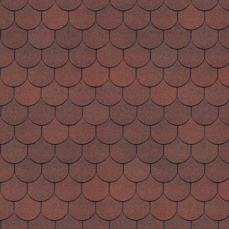 Черепица гибкая Docke PIE SIMPLE Кольчуга Красный<br>Цвет: Красный; Коллекция: Pie simple кольчуга; Вид нарезки: Бобровый хвост; Цвет производителя: Красный; Полезная площадь упаковки: 3,1 м?; Основа: Стеклохолст; Тип посыпки: Базальт; Размер одного гонта: 1000х333 мм; Толщина: 2,7 мм; Вес упаковки: 29,1 кг; Количество слоев черепицы: Однослойная; Количество гонтов в упаковке: 22 шт; Вес 1 м? готового покрытия: 9,4 кг; Бренд: Docke; Производитель: Docke; Гарантия: 20 лет;