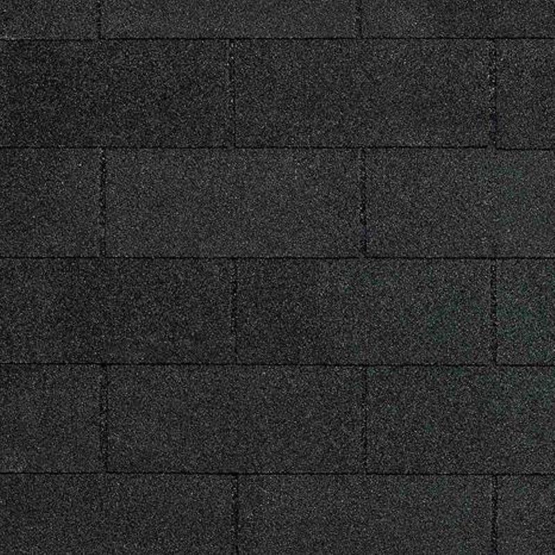 Черепица гибкая CertainTeed CT-20 Moire BlackЧерепица гибкая CertainTeed Presidential CT-20 Moire Black<br><br>Гибкая черепица для финишной отделки кровли на основе стекловолокна с базальтовой посыпкой<br><br>НАЗНАЧЕНИЕ:<br><br>Отделка крыш любой сложности<br><br>ПРЕИМУЩЕСТВА:<br><br>Устойчивость к грибкам, водорослям, образованиям мха (в составе посыпки компоненты меди), а так же к резким перепадам температур (от -50С до +120С);<br><br>Вид нарезки видимой части &amp;ndash; кирпич;<br><br>Ветроустойчивость;<br><br>Прочность (стекловолокно);<br><br>Низкий уровень шума;<br><br>Удобный монтаж на сложных кровлях (легко разрезается на части);<br><br>Огнестойкость (класс А);<br><br>Работа с крышами разного наклона (от 9,5 градуса);<br><br>Широкая палитра расцветок;<br><br>Вес упаковки: 12,5кг, (2,32м.кв.);<br><br>Размеры листа: 914мм*305мм*2,9мм;<br><br>Гарантия до 20 лет.<br><br>РЕКОМЕНДАЦИИ:<br><br>До начала работ предохранять материалы от попадания прямых солнечных лучей;<br><br>Перед монтажными работами обработать стыки мастикой и проложить подкладочный ковер;<br><br>Монтаж черепицы должен производиться профессиональными рабочими (стропальщиками) с применением специализированных инструментов;<br><br>Своевременно проверять кровлю на предмет возникновения повреждений, с целью скорейшего ремонта и замены гонтов;<br><br>Уход за крышей осуществляется в соответствии со временем года (в весенне-летний период очищать от листвы и веток при помощи щетки; в осенне-зимний период убирать снег с поверхности кровли лопатой без острого края).<br>Цвет: Черный; Коллекция: Ct-20; Вид нарезки: Прямоугольник-крипич; Цвет производителя: Moire black; Полезная площадь упаковки: 3,1 м?; Основа: Стеклохолст; Тип посыпки: Базальт; Размер одного гонта: 914х305 мм; Толщина: 2,9 мм; Вес упаковки: 30 кг; Количество слоев черепицы: Однослойная; Вес 1 м? готового покрытия: 9,52 кг; Бренд: CertainTeed; Производитель: Certainteed; Гарантия: 20 лет;