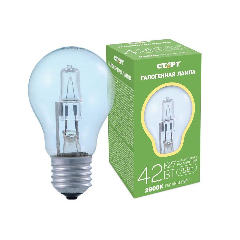 Галогенная лампа СТАРТ ГЛН Б 42Вт Е27 Цоколь Е27 220В 42 Вт Теплый свет<br>Бренд: Старт;