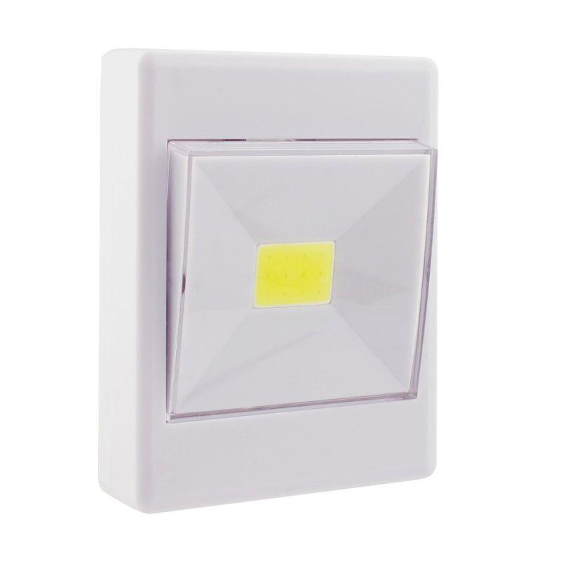 Нажимной светильник СТАРТ PL-1LED-COB белый Работает от трех батареек ААА Световой поток: 100 Лм.<br>