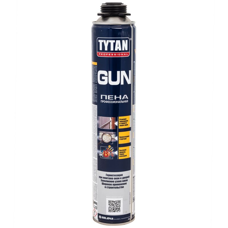 Пена монтажная Tytan Gun профессиональная, 750 мл