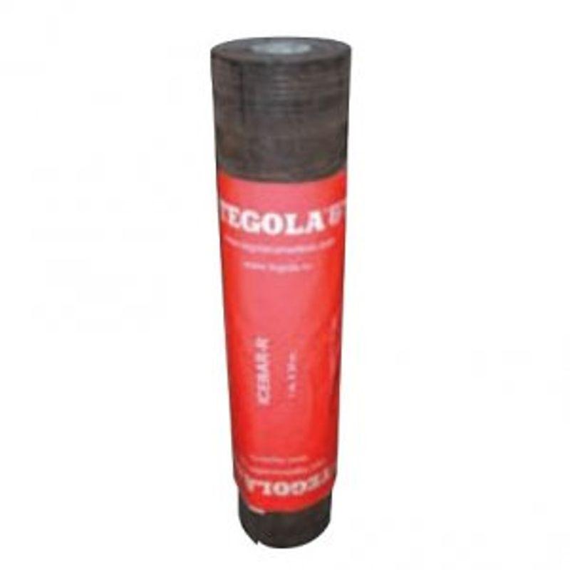 Ковер подкладочный Tegola АЙСБАР (Р), 20х1м, 1,1ммКовёр подкладочный Tegola Айсбар (Р)<br><br>Самоуплотняющийся подкладочный ковёр Tegola Айсбар (Р) &amp;ndash; это специальный рулонный многослойный материал на основе полиэстера с верхним слоем из мелкозернистого песка. Используется для создания дополнительного или полного гидроизоляционного слоя в конструкциях скатных крыш с финишным покрытием из мягкой гибкой черепицы.<br><br>НАЗНАЧЕНИЕ:<br><br>Гидроизоляция кровельных скатов с углом наклона от 20&amp;deg;&amp;nbsp;и больше;<br><br>Гидроизоляция отдельных узлов кровли сложной конфигурации (карнизы, ендовы, примыкания и пр.);<br><br>Исправление неровностей поверхности и перепадов уровня крыши.<br><br>ПРЕИМУЩЕСТВА:<br><br>Возможно использование в качестве временной кровли;<br><br>Надёжный уровень гидроизоляции дымоходов, стыков кровли и т.п.- дополнительная резервная защита при сложных погодных явлениях (косые ливни, порывистые ветра);<br><br>Подкладка существенно продлевает срок эксплуатации и значительно уменьшает разрушение крыши, разделяя черепицу и настил;<br><br>Гарантия амортизации под большим весом шапки снега &amp;ndash; продление срока службы мягкой черепицы;<br><br>Защита и теплоизоляция подкровельного пространства и предотвращение образования конденсата;<br><br>Верхний слой обработан песком &amp;ndash; исключается скольжение при монтаже и слипание материала при хранении;<br><br>Высокие эксплуатационные характеристики - гибкость, пластичность и устойчивость к механическим нагрузкам обеспечивается многослойным строением (основа из полиэстера с обеих сторон покрыта СБС модифицированным&amp;nbsp;битумом и дополнена ещё одним слоем полиэстера);<br><br>Исключены протечки при фиксации гвоздями &amp;ndash; отверстия плотно &amp;laquo;затягиваются&amp;raquo; битумным вяжущим в местах крепления;<br><br>Практичность, лёгкость и удобство монтажа &amp;ndash; небольшой вес рулона позволяет эффективно работать одному человеку.<br><br>РЕКОМЕНДАЦИИ:<br><br>Перед началом 