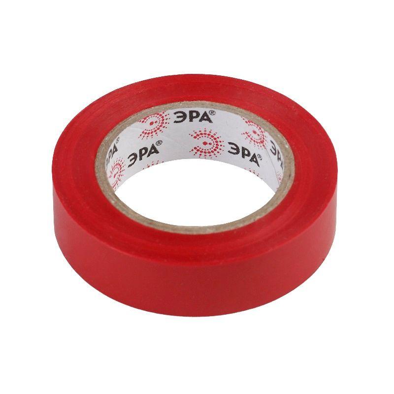 ПВХ-изолента 15мм*10м красная ЭРА<br>Бренд: Эра; Длина: 10 м; Количество в упаковке: 10 шт; Цвет: Красная; Ширина: 15 мм; Материал: ПВХ; Адгезия (липкость): 45 сек; Прочность при растяжении: 15 МПа; Электрическая прочность (напряжение пробоя): не менее 6 kV; Удлинение при разрыве: 190 %; Диапазон рабочих температур: От -50°С до +70°С; Класс горючести: НГ;