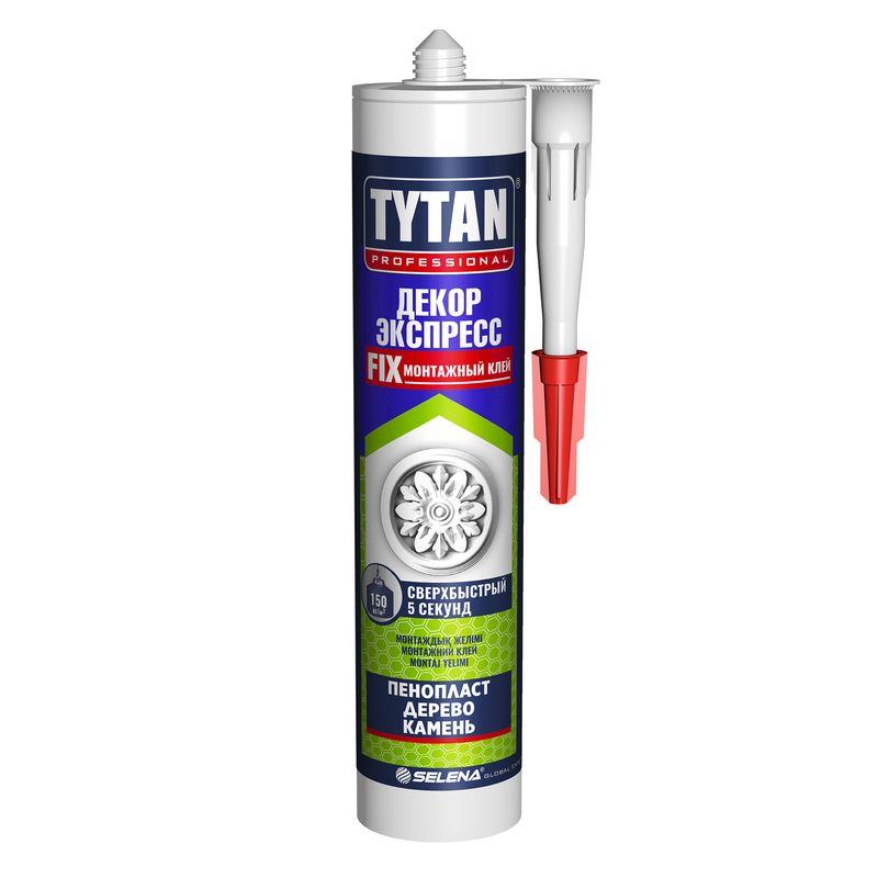 Купить Жидкие гвозди Tytan Декор Экспресс (белый), 310 мл, Tytan Professional, Белый
