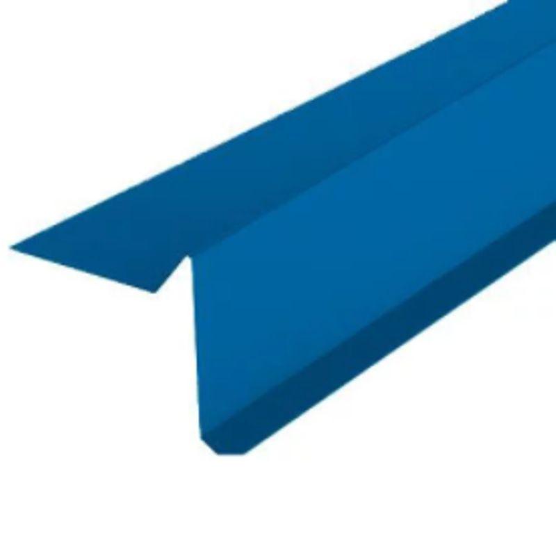 Планка торцевая S5 PE RAL 5005 L-2000мм<br>Цвет: Синий; Назначение: Гибкая черепица;