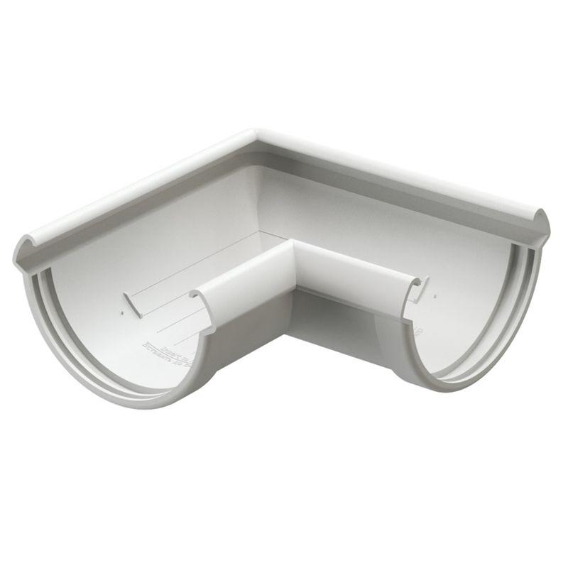 Угловой элемент желоба Docke Lux 90° Пломбир<br>Бренд: Docke; Коллекция: Lux; Диаметр желоба: 140 мм; Угол изгиба: 90 °; Материал: Пластик; Сечение: Круглое; Цвет: Белый; Цвет производителя: Пломбир; Область применения: Для пвх водосточки; Страна производитель: Россия; Вес: 0,42 кг;