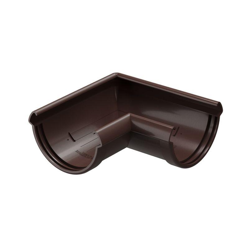 Угловой элемент желоба Docke Lux 90° Шоколад<br>Бренд: Docke; Коллекция: Lux; Диаметр желоба: 140 мм; Угол изгиба: 90 °; Материал: Пластик; Сечение: Круглое; Цвет: Коричневый; Цвет производителя: Шоколад; Область применения: Для пвх водосточки; Страна производитель: Россия; Вес: 0,42 кг;