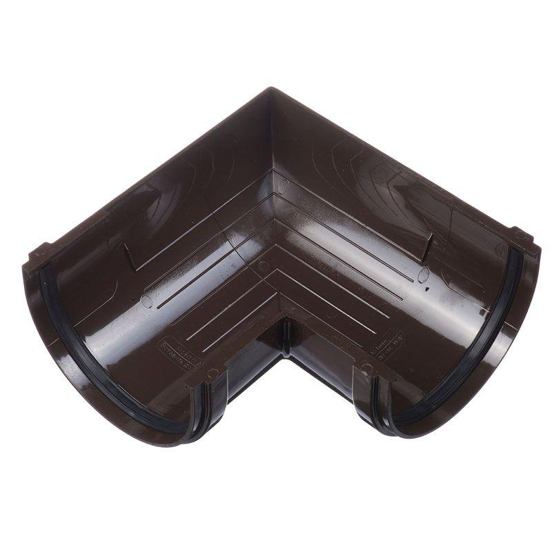 Угловой элемент желоба Docke Standart 90° Шоколад<br>Бренд: Docke; Область применения: Для пвх водосточки;