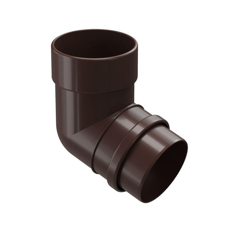 Колено трубы Docke LUX 72° ШоколадКолено трубы Docke Lux 72&amp;deg; Шоколад.<br><br>Колено трубы круглого сечения 72&amp;deg; Docke предназначено &amp;nbsp;для огибания различных элементов и препятствий на стене или крыше объектов с большой площадью кровли. Коллекция - Lux. Цвет &amp;ndash; шоколад.<br><br>НАЗНАЧЕНИЕ:<br><br>Огибание элементов и препятствий на стене или крыше объектов с большой площадью кровли;<br><br>Соединение водосточной воронки с трубой;<br><br>Защита стен и кирпичной кладки от попадания воды, разводов и вымывания фундамента.<br><br>ПРЕИМУЩЕСТВА:<br><br>Прочность (в основе пластик Lux &amp;ndash; материал с усиленной прочностью, устойчив при изменении температуры воздуха, не трескается, не деформируется на солнечных лучах);<br><br>Легкость и герметичность (система не оказывает нагрузку на крышу и стены зданий, &amp;nbsp;отсутствие дополнительных уплотнителей при установке);<br><br>Долговечность (не требует ухода после установки, производитель дает гарантию 20 лет, устойчива к морозу, низким и высоким температурам, УФ лучам, не выгорает на солнце, не подвержена коррозии и ржавчине);<br><br>Удобство установки (простой монтаж - с самостоятельной установкой может справиться новичок, система водостока в наличии в сборе, легко отрезать по нужным размерам, работа обычными инструментами);<br><br>Дизайн (стойкие яркие цвета, со временем &amp;nbsp;не выгорают на солнце, гармоничное сочетание по цвету со многими строительными материалами, фасадами зданий);<br><br>Универсальность (применение на жилых домах, постройках, беседках, кафе, магазинах, установка на деревянные или кирпичные стены);<br><br>РЕКОМЕНДАЦИИ:<br><br>Для увеличения расстояния между стеной и 1 &amp;nbsp;водосточной трубой используйте не менее 3 элементов &amp;nbsp;колена трубы на нижнюю часть водостока.<br><br>Чем больше угол изгиба, тем больше препятствий для потока воды.<br><br>На меньшем углу изгиба скапливается меньше мусора.<br><br>При монтаже колено одеть на воронку с использованием 