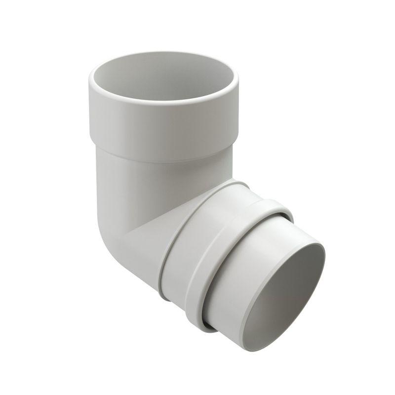 Колено трубы Docke LUX 72° Пломбир<br>Бренд: Docke; Коллекция: Lux; Диаметр трубы: 100 мм; Угол изгиба: 72 °; Материал: Пластик; Толщина: 0,5 мм; Сечение: Круглое; Цвет: Белый; Цвет производителя: Пломбир; Область применения: Для пвх водосточки; Страна производитель: Россия; Вес: 0,4 кг;