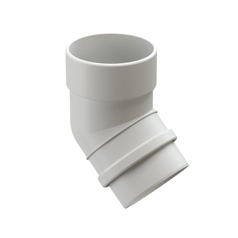 Колено трубы Docke LUX 45° ПломбирКолено трубы Docke Lux 45&amp;deg; Пломбир<br><br>Колено трубы круглого сечения 45&amp;deg; Docke предназначено &amp;nbsp;для огибания различных элементов и препятствий на стене или крыше объектов с большой площадью кровли. Коллекция - Lux. Цвет &amp;ndash; пломбир.<br><br>НАЗНАЧЕНИЕ:<br><br>Огибание элементов и препятствий на стене или крыше объектов с большой площадью кровли;<br><br>Соединение водосточной воронки с трубой;<br><br>Защита стен и кирпичной кладки от попадания воды, разводов и вымывания фундамента.<br><br>ПРЕИМУЩЕСТВА:<br><br>Прочность (в основе пластик Lux &amp;ndash; материал с усиленной прочностью, устойчив при изменении температуры воздуха, не трескается, не деформируется на солнечных лучах);<br><br>Легкость и герметичность (система не оказывает нагрузку на крышу и стены зданий, &amp;nbsp;отсутствие дополнительных уплотнителей при установке);<br><br>Долговечность (не требует ухода после установки, производитель дает гарантию 20 лет, устойчива к морозу, низким и высоким температурам, УФ лучам, не выгорает на солнце, не подвержена коррозии и ржавчине);<br><br>Удобство установки (простой монтаж - с самостоятельной установкой может справиться новичок, система водостока в наличии в сборе, легко отрезать по нужным размерам, работа обычными инструментами);<br><br>Дизайн (стойкие яркие цвета, со временем &amp;nbsp;не выгорают на солнце, гармоничное сочетание по цвету со многими строительными материалами, фасадами зданий);<br><br>Универсальность (применение на жилых домах, постройках, беседках, кафе, магазинах, установка на деревянные или кирпичные стены);<br><br>РЕКОМЕНДАЦИИ:<br><br>Для увеличения расстояния между стеной и 1 &amp;nbsp;водосточной трубой используйте не менее 3 элементов &amp;nbsp;колена трубы на нижнюю часть водостока.<br><br>Чем больше угол изгиба, тем больше препятствий для потока воды.<br><br>На меньшем углу изгиба скапливается меньше мусора.<br><br>При монтаже колено одеть на воронку с использованием у