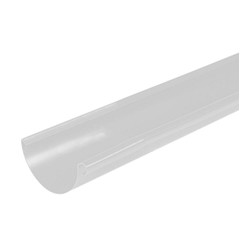 Желоб водосточный Металлпрофиль Престиж 3м D150 RAL 9010<br>Бренд: Металлпрофиль; Коллекция: Престиж; Диаметр желоба: 150 мм; Материал: Сталь; Длина: 3000 мм; Покрытие: Пластизол; Сечение: Круглое; Цвет: Белый; Цвет производителя: Белый; Область применения: Для металлической водосточки; Страна производитель: Россия; Вес: 3 кг;