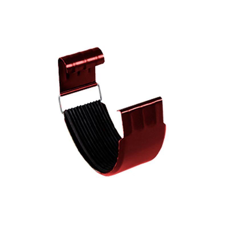 Соединитель желоба Металлпрофиль Престиж D125 P363<br>Бренд: Металлпрофиль; Коллекция: Престиж; Диаметр трубы: 100 мм; Диаметр желоба: 125 мм; Материал: Сталь; Толщина: 0,5 мм; Покрытие: Пластизол; Сечение: Круглое; Цвет: Красный; Цвет производителя: Вишневый; Область применения: Для металлической водосточки; Страна производитель: Россия; Вес: 0,2 кг;