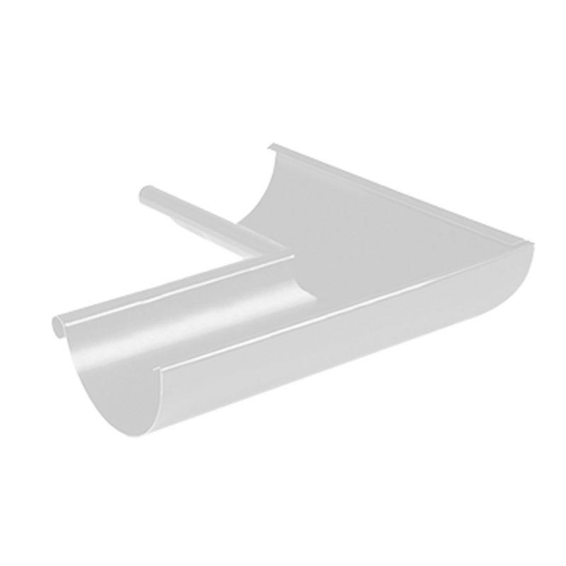 Угол желоба внутренний 90° Металлпрофиль Престиж D150 RAL 9010<br>Бренд: Металлпрофиль; Коллекция: Престиж; Диаметр трубы: 100 мм; Диаметр желоба: 150 мм; Угол изгиба: 90 °; Материал: Сталь; Толщина: 0,5 мм; Покрытие: Пластизол; Сечение: Круглое; Цвет: Белый; Цвет производителя: Белый; Область применения: Для металлической водосточки; Страна производитель: Россия; Вес: 0,6 кг;