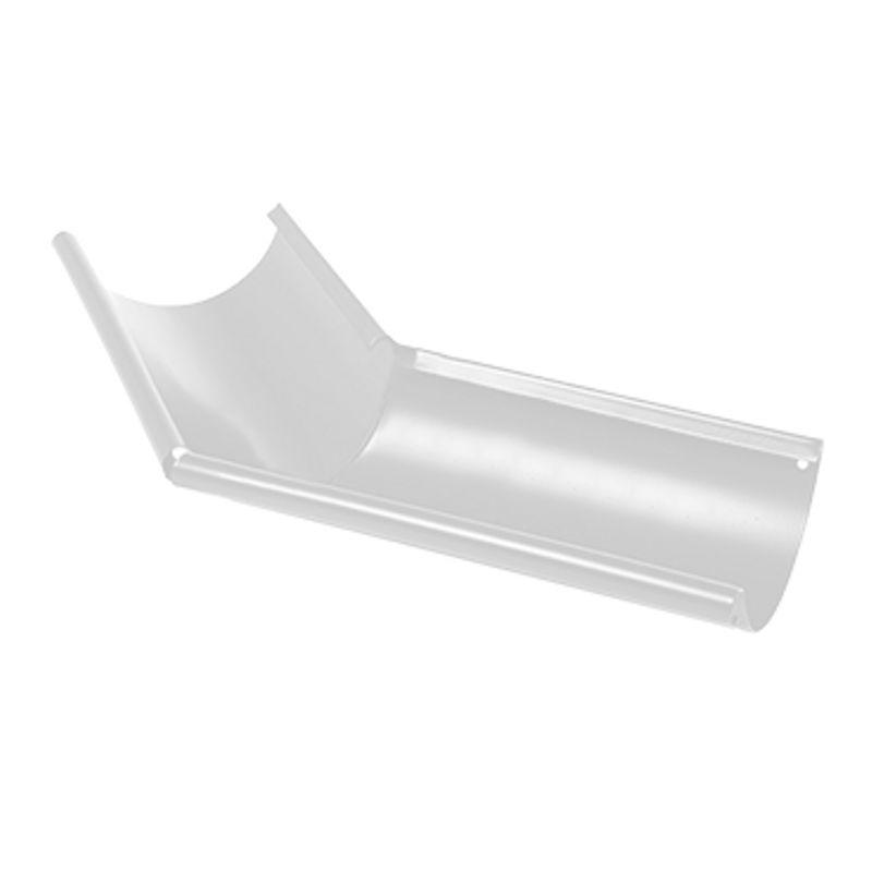 Угол желоба наружный 135° Металлпрофиль Престиж D125 RAL 9010<br>Бренд: Металлпрофиль; Коллекция: Престиж; Диаметр трубы: 100 мм; Диаметр желоба: 125 мм; Угол изгиба: 135 °; Материал: Сталь; Толщина: 0,5 мм; Покрытие: Пластизол; Сечение: Круглое; Цвет: Белый; Цвет производителя: Белый; Область применения: Для металлической водосточки; Страна производитель: Россия; Вес: 0,71 кг;