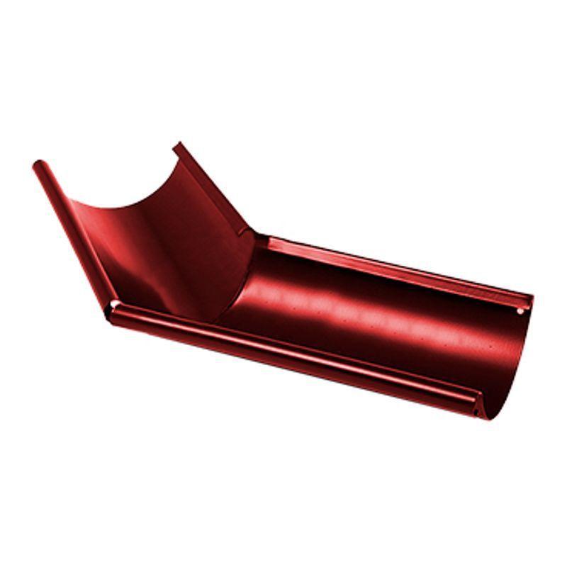 Угол желоба наружный 135° Металлпрофиль Престиж D150 P363<br>Бренд: Металлпрофиль; Коллекция: Престиж; Диаметр трубы: 100 мм; Диаметр желоба: 150 мм; Угол изгиба: 135 °; Материал: Сталь; Толщина: 0,5 мм; Покрытие: Пластизол; Сечение: Круглое; Цвет: Красный; Цвет производителя: Вишневый; Область применения: Для металлической водосточки; Страна производитель: Россия; Вес: 0,6 кг;