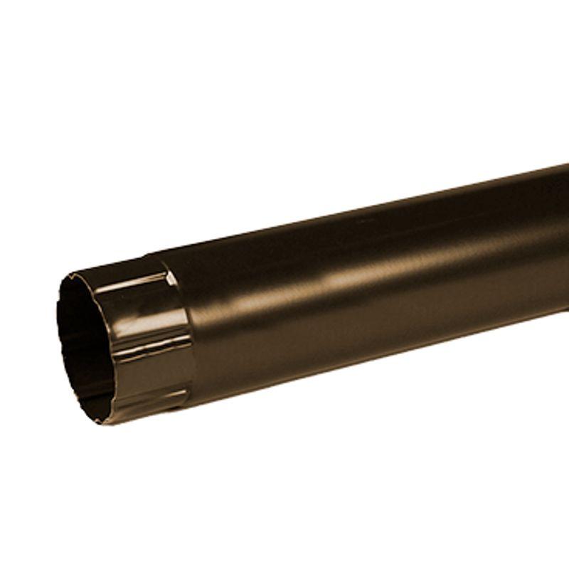 Купить Труба водосточная Металлпрофиль Престиж 2м D100 RR32, Коричневый, Сталь, Россия
