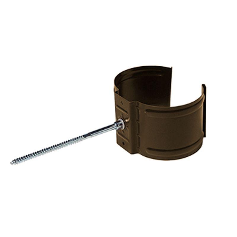 Кронштейн трубы на кирпич Металлпрофиль Престиж D100 RR32<br>Бренд: Металлпрофиль; Коллекция: Престиж; Диаметр трубы: 100 мм; Диаметр желоба: 125 мм; Материал: Сталь; Толщина: 0,6 мм; Сечение: Круглое; Покрытие: Пластизол; Цвет: Коричневый; Цвет производителя: Коричневый; Область применения: Для металлической водосточки; Страна производитель: Россия; Вес: 0,1 кг;