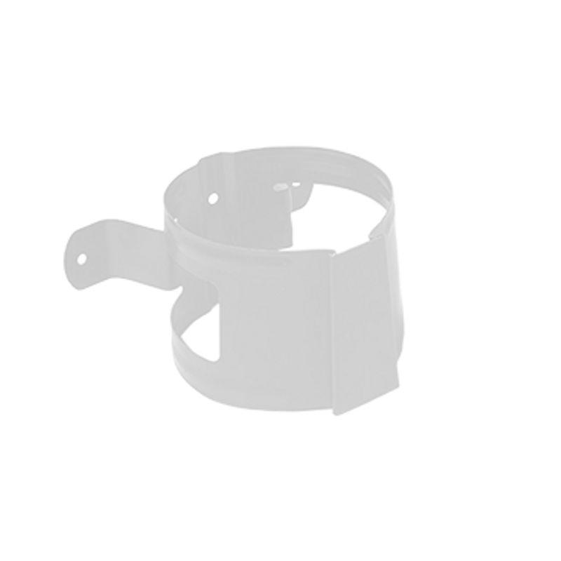 Кронштейн трубы на дерево Металлпрофиль Престиж D100 RAL 9010<br>Бренд: Металлпрофиль; Коллекция: Престиж; Диаметр трубы: 100 мм; Диаметр желоба: 125 мм; Материал: Сталь; Толщина: 0,6 мм; Сечение: Круглое; Покрытие: Пластизол; Цвет: Белый; Цвет производителя: Белый; Область применения: Для металлической водосточки; Страна производитель: Россия; Вес: 0,1 кг;