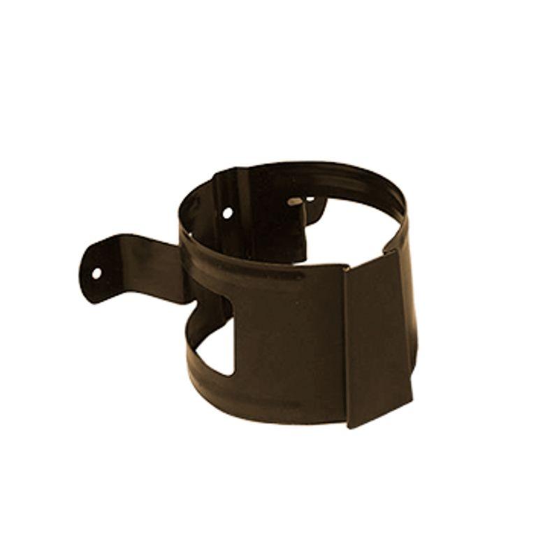 Кронштейн трубы на дерево Металлпрофиль Престиж D100 RR32<br>Бренд: Металлпрофиль; Коллекция: Престиж; Диаметр трубы: 100 мм; Диаметр желоба: 125 мм; Материал: Сталь; Толщина: 0,6 мм; Сечение: Круглое; Покрытие: Пластизол; Цвет: Коричневый; Цвет производителя: Коричневый; Область применения: Для металлической водосточки; Страна производитель: Россия; Вес: 0,1 кг;