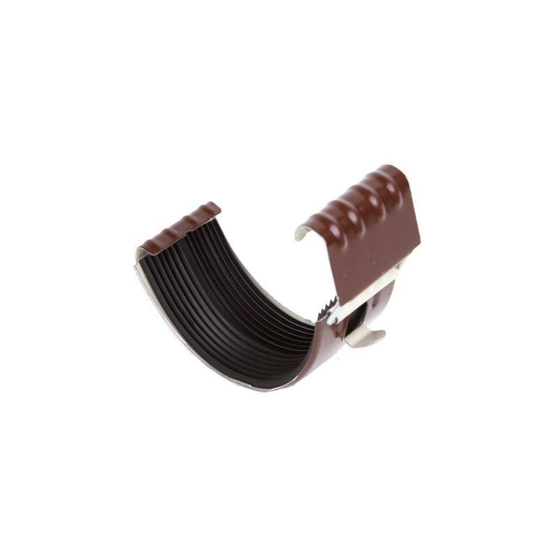 Соединитель желоба Металлпрофиль GRANDSYSTEM D125 0,6мм RAL 8017<br>Бренд: Металлпрофиль; Коллекция: Grandsystem; Диаметр трубы: 90 мм; Диаметр желоба: 125 мм; Материал: Сталь; Толщина: 0,6 мм; Покрытие: Пластизол; Сечение: Круглое; Цвет: Коричневый; Цвет производителя: Шоколад; Область применения: Для металлической водосточки; Страна производитель: Россия; Вес: 0,11 кг;