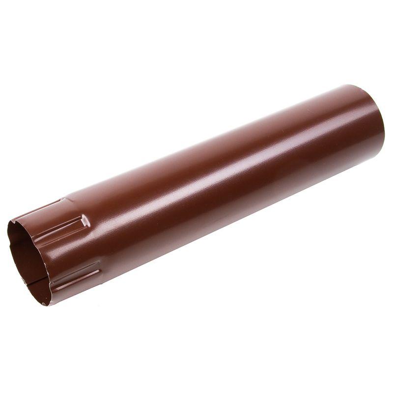 Труба водосточная Металлпрофиль GRANDSYSTEM 3м D90 RAL 8017<br>Бренд: Металлпрофиль; Коллекция: GrandSystem; Диаметр трубы: 90 мм; Материал: Сталь; Длина: 3000 мм; Толщина: 0,5 мм; Покрытие: Полуретан; Сечение: Круглое; Цвет: Коричневый; Цвет производителя: Шоколад; Область применения: Для металлической водосточки; Страна производитель: Россия; Вес: 3,66 кг;