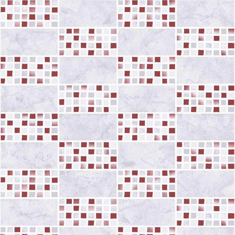 Обои виниловые на бумажной основе Erismann Remix 1658-6<br>Бренд: Erismann; Страна производитель: Россия; Коллекция: Remix; Артикул: 1658-6; Длина рулона: 10,05 м; Ширина рулона: 0,53 м; Площадь рулона: 5.33 м?; Тип обоев: Виниловые на бумажной основе; Материал поверхности: Вспененный винил; Материал основы: Бумага; Цвет производителя: Серый; Цвет производителя: Бордовый; Тип рисунка: Мозаика; Фактура: Рельефная; Стиль: Модерн; Подгонка рисунка: Прямая стыковка; Повтор рисунка: 12,8 см; Окрашивание: Не красят; Нанесение клея: На обои; Особые свойства: Водостойкость; Особые свойства: Долговечность; Особые свойства: Устойчивость к выгоранию; Тип помещения: Ванная; Тип помещения: Кухня; Вес рулона: 1.08 кг; Количество рул/кор: 12 шт; Цветовая гамма: Красный; Цветовая гамма: Серый; Дизайн: Геометрия;